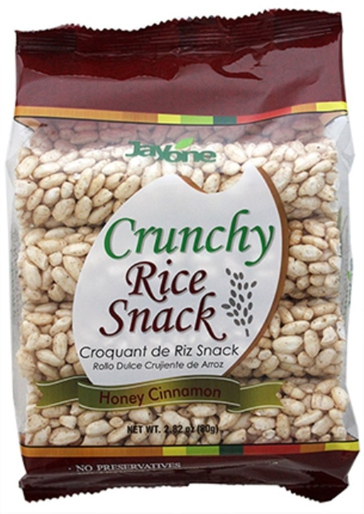 jayone crujientes snack de arroz, miel Canela, 2.8 onzas ...