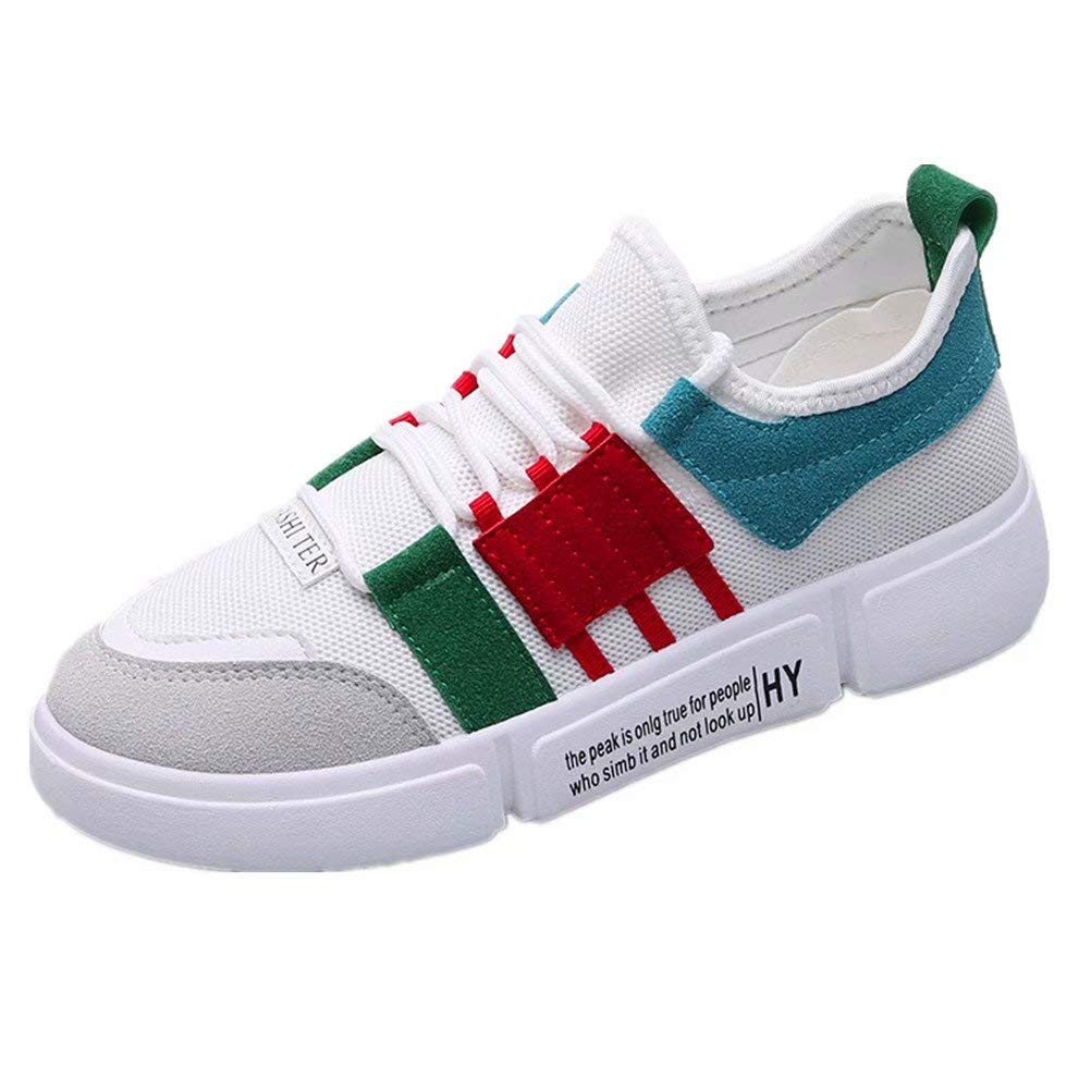 ANBOVER Womens Classic Sneakers Breathable ins Shoes Walking Sport Street Shoes Green 36