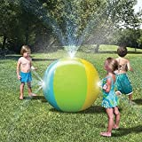 Inflatable Water Spray Ball Outdoor Fun Toy for Hot Summer Swimming Party Beach Pool Play Children Kids Beach Ball Sprinkler