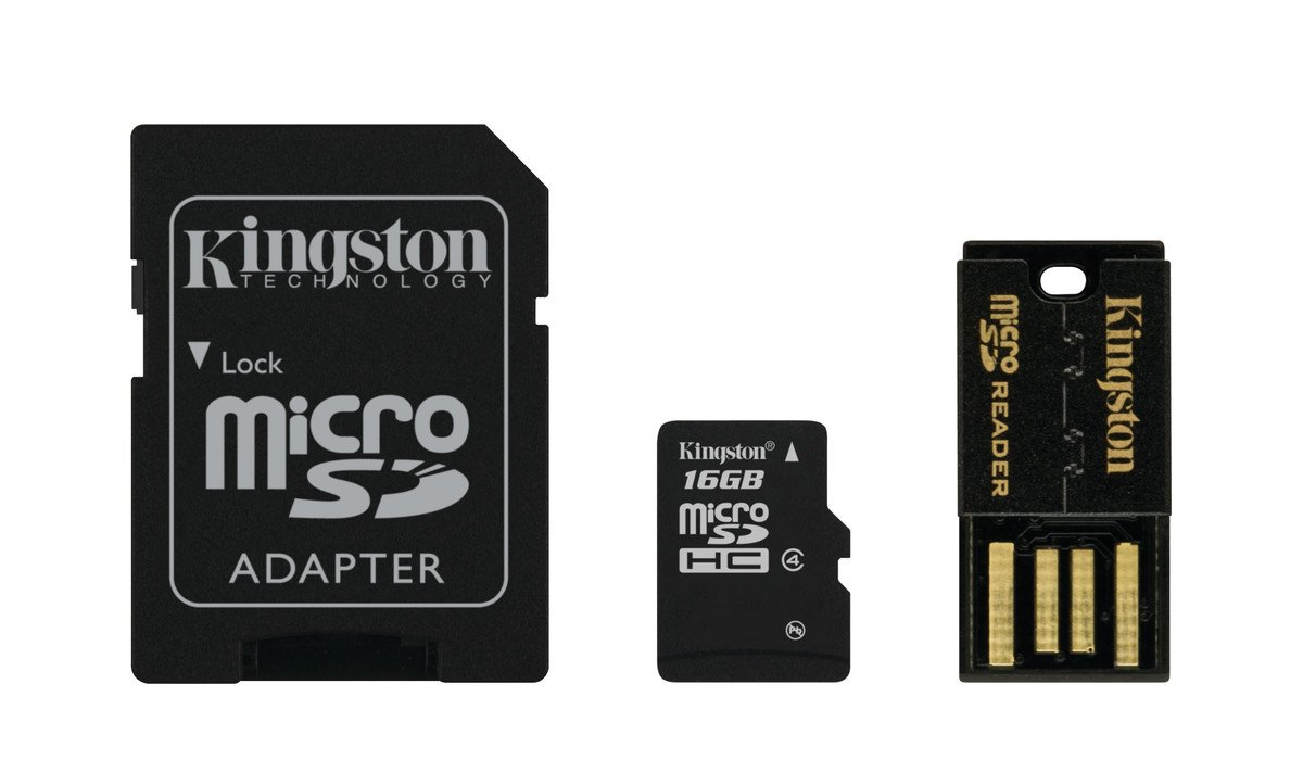 Kingston Digital Multi-Kit/Mobility Kit 16 GB Flash Memory Card Reader, MBLY4G2/16GB