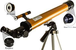 Telescopio Astronomico Refrator Profissional 50/100x tripé Completo