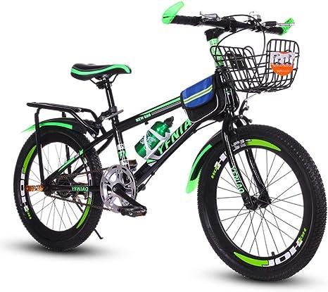 RFV Bicicleta, Bicicleta de Montaña, Carro de Estudiante, Carro de Regalo de Freno de Disco de Cambio de una Sola Velocidad de 22 Pulgadas para Hombres Y Mujeres,Verde,22 Pulgadas: Amazon.es: Deportes y