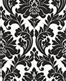 Graham & Brown 30-433 Superfresco Easy Majestic Wallpaper, Black and White