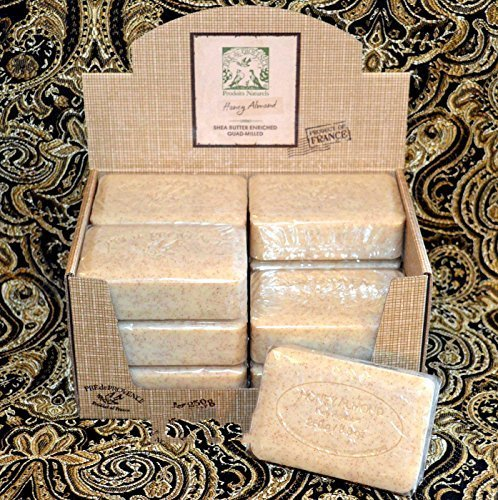 (Case of 12 Pre de Provence Honey Almond 250 gram shea butter extra large soap bars)