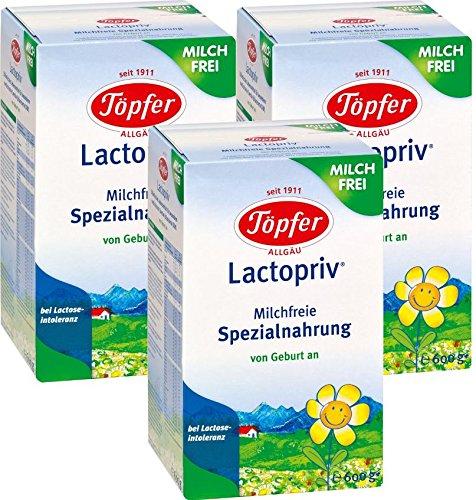 Lactopriv cerámica, dieta especial libre de leche, desde el nacimiento, 3-pack