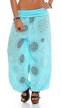 Malito Damen Pumphose mit Print   Haremshose zum Tanzen   Aladinhose zum  Chillen - Freizeithose – 0ac3706725