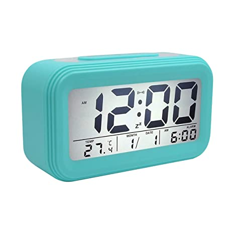 COOJA Reloj Despertador Digital Pilas, Reloj Alarma Despertador Infantil con Luz Snooze Numeros Grandes Temperatura, Despertador Electronico de Viaje ...