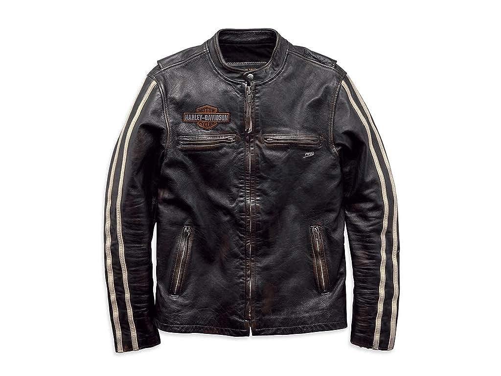 Harley Davidson Freizeit Lederjacke Sleeve Stripe: