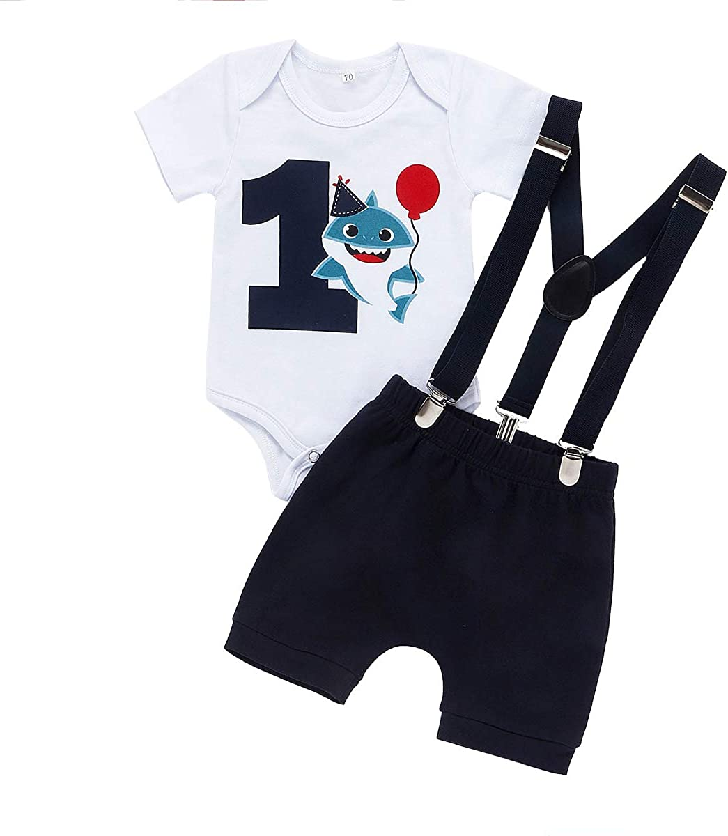 Baby Shark Summer Clothes Toddler Boy Shark Shorts Set Kids Summer Outfits Clothes Set