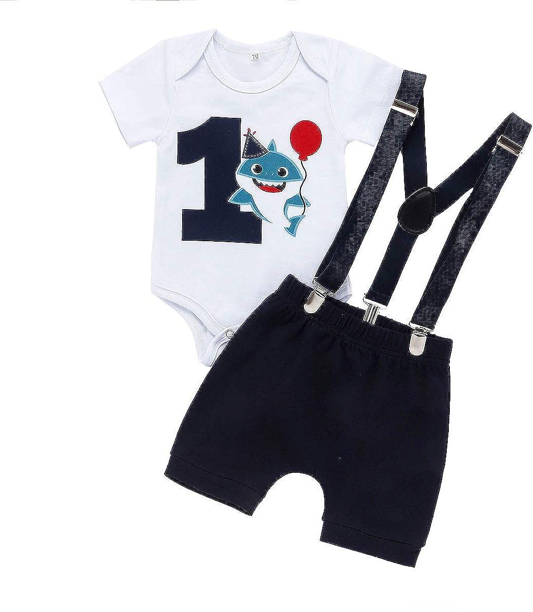 Baby Shark Summer Clothes Toddler Boy Shark Shorts Set Kids Summer Outfits Clothes Set