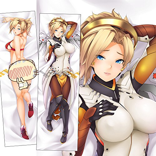 Price comparison product image NB Arts OVERWATCH Mercy Anime Body Pillowcase 50 x 150 cm