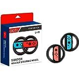 OKITI ニンテンドースイッチ joy-Con ハンドル レースゲーム専用ハンドル マリオカート 8専用ハンドル (2個セット ブラック)