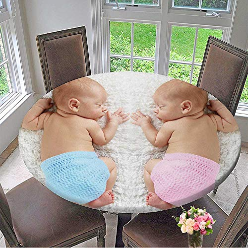 - Mikihome Premium Tablecloth Newborn Twin Babies,boy and Girl,Sleeping on a White Blanket. Everyday Use 59