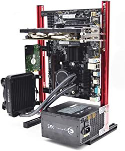 Electric Magic Creative Personality DIY Chassis Bracket Open Chassis MATX Vertical Computer Game Chassis Rack Water-Cooled PC Test Bench