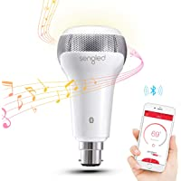 Sengled Smart Bulb B22 Base with JBL Bluetooth Speakers, App Controlled Dual Channel Dimmable LED Light Bulb, 60W…
