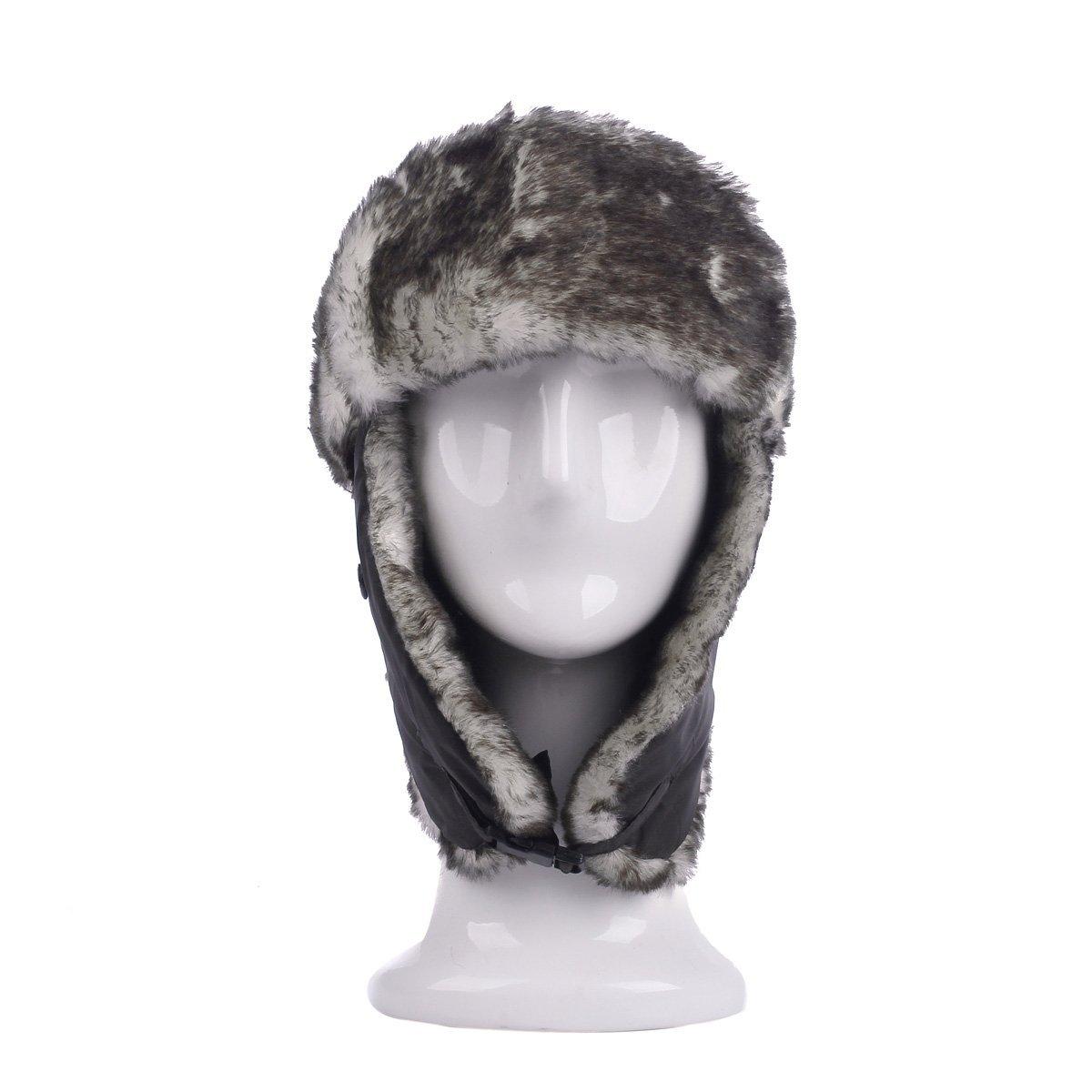 Diff Colors TrendsBlue Winter Warm Faux Fur Trapper Ski Snowboard Hunter Bomber Hat