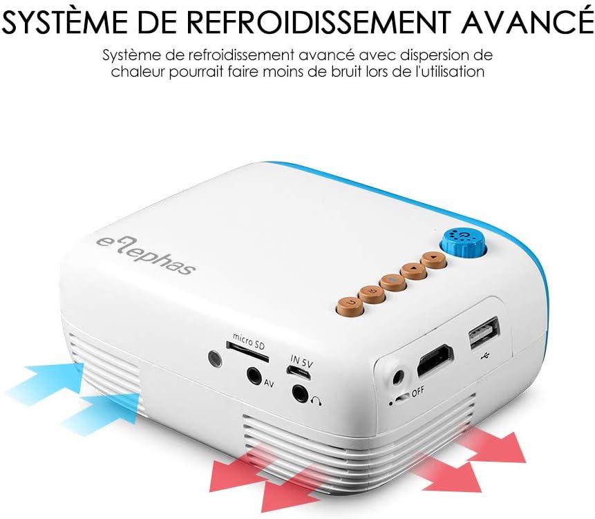 Elephas - Mini proyector LED Pico, proyector portátil, Compatible ...
