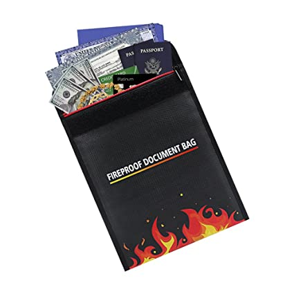 Fireproof Resistant Document Bag 11.81\'\' x 9.4\'\' Heavy Duty and Non ...