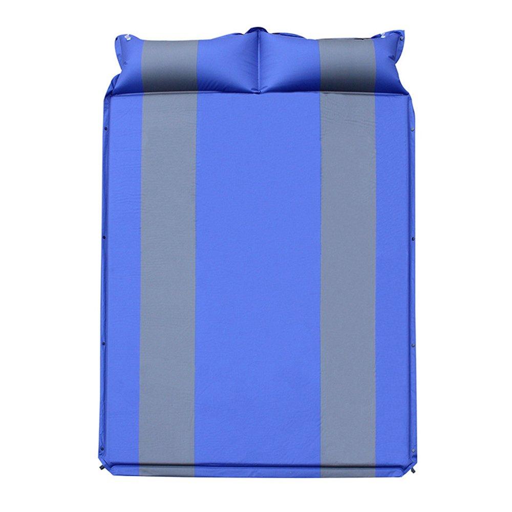 QEL Automatisches aufblasbares Kissen, erweitertes Design, Kissen 2-in-1, und Matratzen, 2-in-1, Kissen für Outdoor-Aktivitäten, Schlafen, 192 x 132 x 2,5 cm cdfdbc