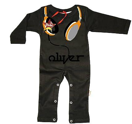 Auriculares Boys personalizada playsuits Bebés mano playsuits Impreso con su nombre de Childs Cool Funda Baby
