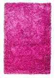 Super Area Rugs Cozy Plush Solid Shag Rug, 2' x 3', Pink