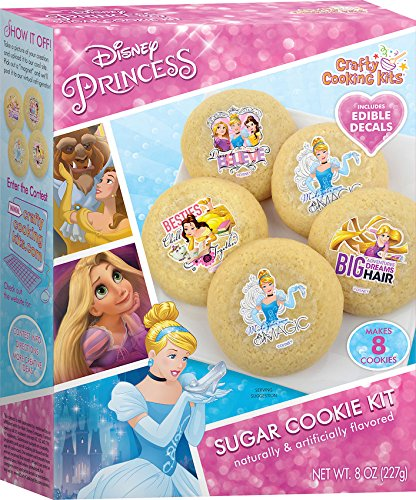 Crafty Cooking Kits Disney Princess Sugar Cookie Kit, 8 (Cutter Decal)