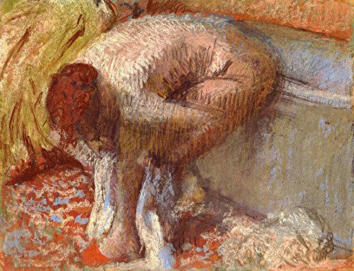 (Aenx Edgar Degas - Woman Wiping Her Feet Drawing - Pastel Private Collection 30