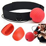 KWOW Boxing Reflex Ball, Portable Pro Boxing Training Speed Ball for MMA Speed Adult/Kids Gift Improve Punch Focus Sport Exercise Practice Fitness Trainer - Pro Ball Version 85g, Gloves included