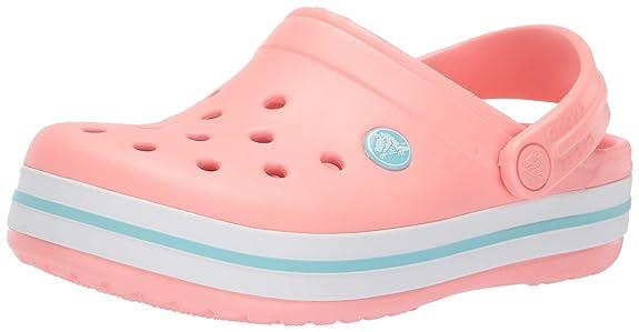 Crocs Kids' Crocband Clog,melon/ice blue,11 M US Little Kid