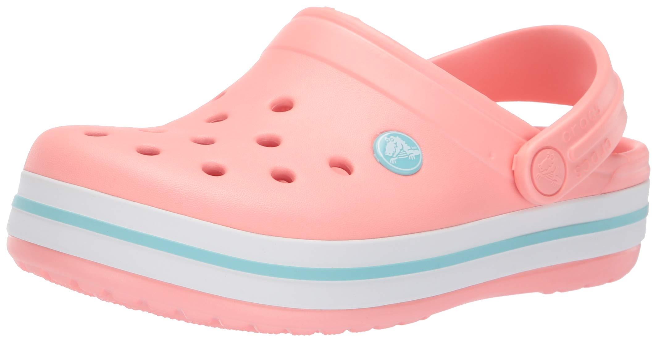 Crocs Kids' Crocband Clog,melon/ice blue,6 M US Toddler