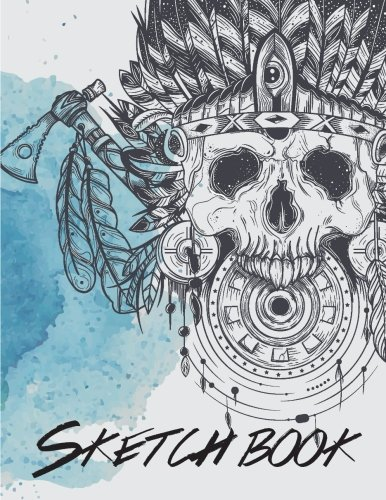 """Sketch Book: Notebook Sketchbook, Paper Book for Sketching, Drawing, Journaling & Doodling (Sketchbooks), Perfect Large size at 8.5"""" x 11"""", 120 Pages, Skull Cover"""