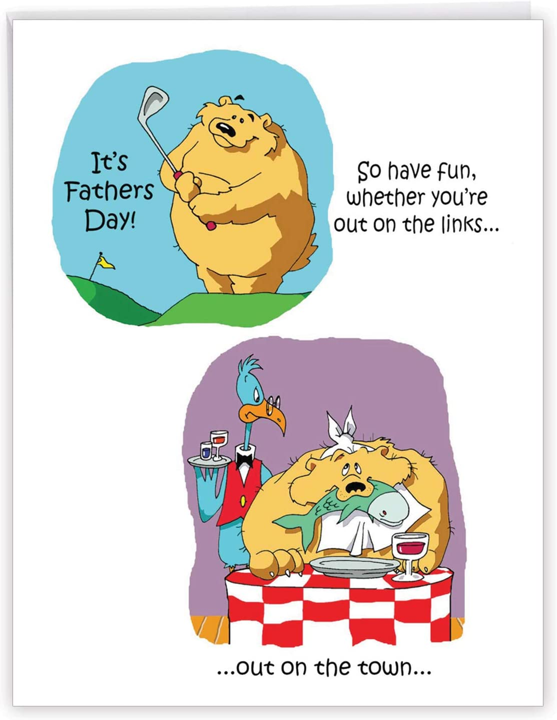 LARGE Quality FATHER/'S DAY card Fathers Bear and Beer Design DAD