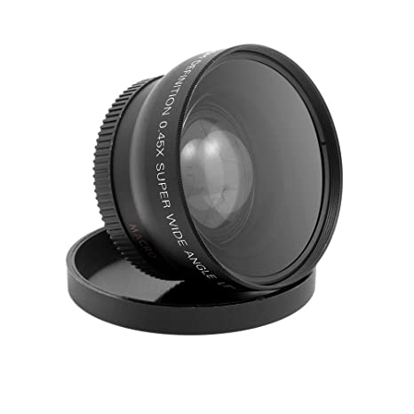 Docooler HD 52MM 0 45x Wide Angle Lens with Macro Lens for Canon Nikon Sony  Pentax 52MM DSLR Camera