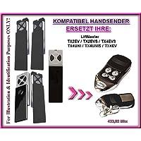 Lift Master tx2ev/tx4ev/tx2evs/tx4evs/tx4uni/tx4unis compatible handsender, Repuestos emisor, ersatzgerät.