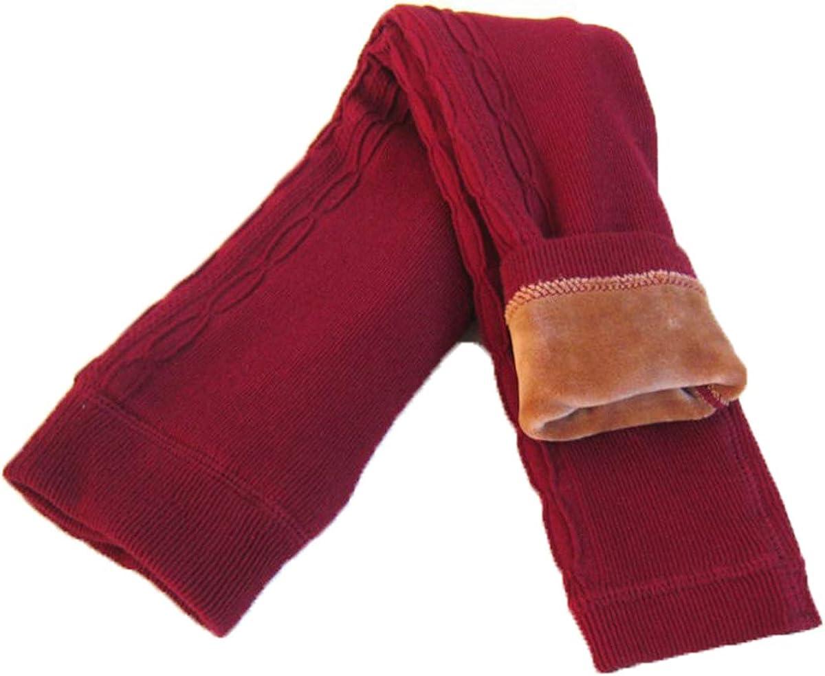Tengo Girls Winter Thick Leggings Fleece Lined Warm Kids Leggings Pants