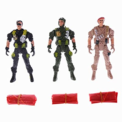 HOWWOH Parachute Soldier Toy, 9cm Paratroopers Parachute Soldiers Kids Children Outdoor Sports Hand Throw Toy - Color Randomly: Home & Kitchen [5Bkhe2004970]
