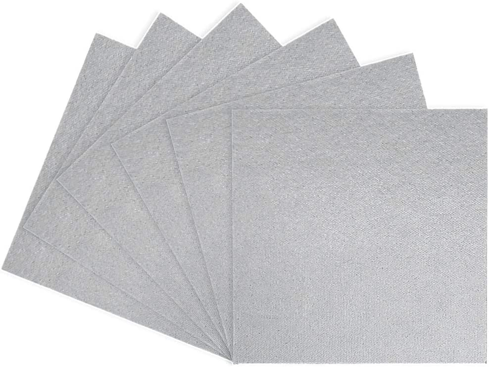6 Piezas Microondas Placas de Mica 13 x 13cm Hoja de Mica Universal Se Puede Cortar Libremente Adecuado para el Reemplazo de Piezas de Lámina de Mica del Horno Microondas