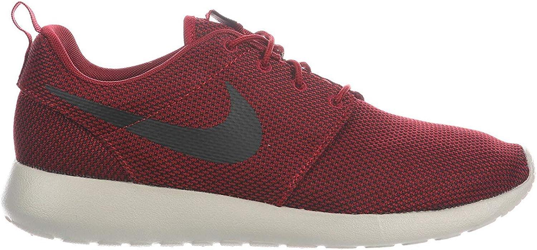dolor de muelas Solo haz Percepción  Nike Men's Roshe One Team Red/Black/Bordeaux/Pale Grey Nylon Running Shoes  11.5 D US | Road Running - Amazon.com