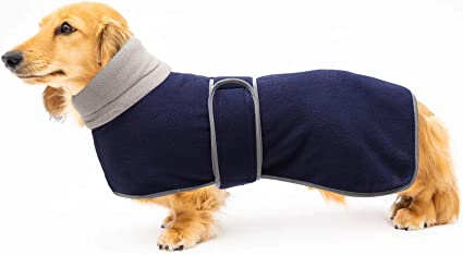 Dog Winter Coat with Warm Fleece Lining Large Dog -Red-S Geyecete Warm Thermal Quilted Dachshund Coat Outdoor Dog Apparel with Adjustable Bands for Small,Medium