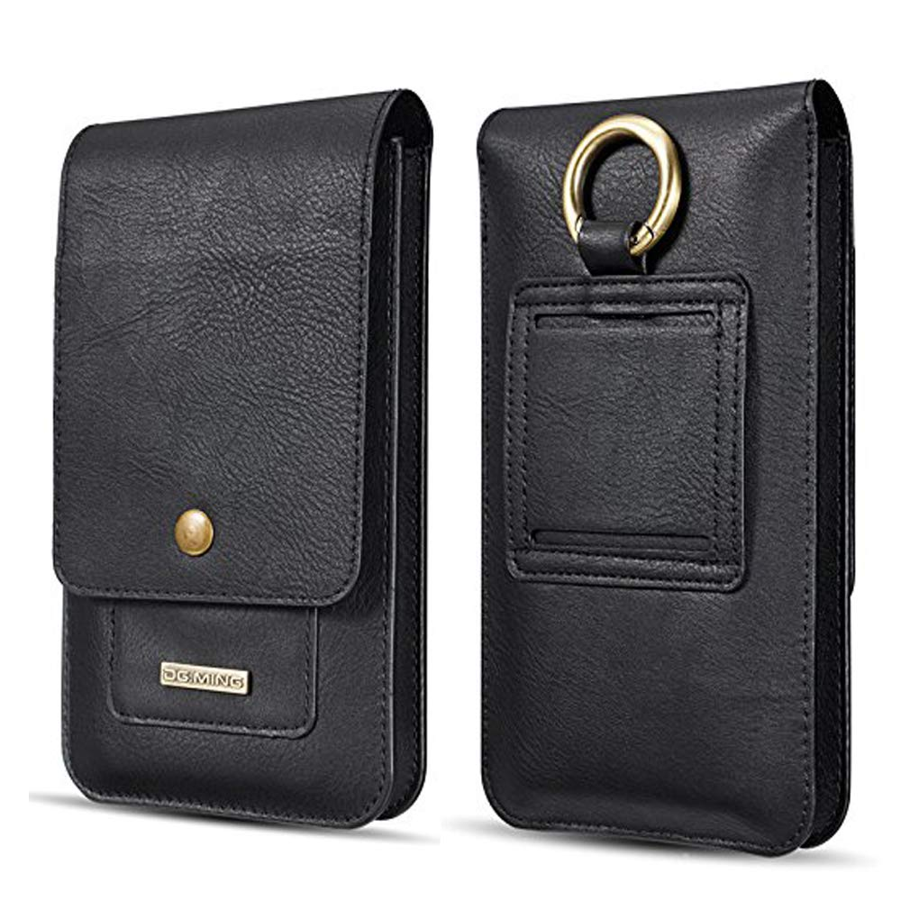 Belt Clip Sleeve for iPhone X,INorton 5.5 inch PU Leather Holster Belt Loop with Card Slots,Shockproof Protective Wallet Purse for iPhone 8/8Plus/7/7Plus