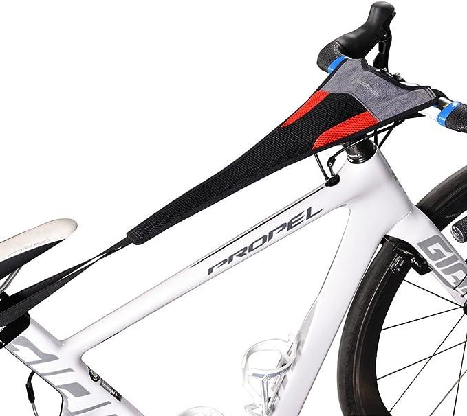 """ROCKBROS Cubierta de Sudor para Entrenamiento de Bicicleta Impermeable Elástica Absorber el Sudor para Rodillos Ciclismo Dos Tipos Adecuada para Telefonos Móviles 6.0"""" Negro Rojo: Amazon.es: Deportes y aire libre"""