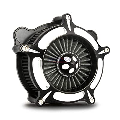 Black Deep edge cut AIR cleaner intake system kits For Harley IRON 883 XL 883 1200 sportster 48 72 1991-2020