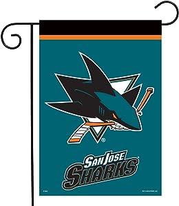 San Jose Sharks Garden Flag Hockey Licensed 12.5