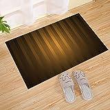JANNINSE Welcome Home Door Mat Entrance Carpet Anti-Slip Custom Machine Washable Indoor/Outdoor/Front Door/Bathroom, 18X30 Inches,Brown-Black Gradient Vertical Stripes