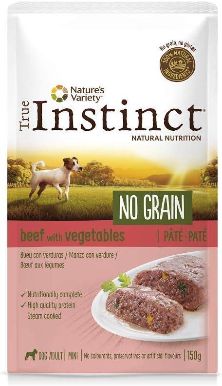 True Instinct No Grain - Natures Variety - Mini Paté sin Cereales de Buey para Perros 150 gr - Pack de 8