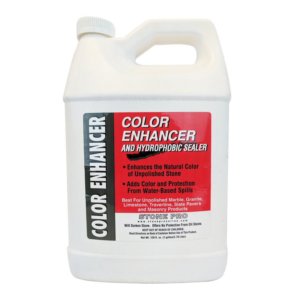Stone Pro Color Enhancer - Unpolished Stone Sealer and Enhancer - 1 Gallon