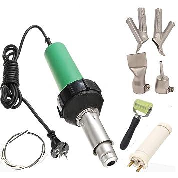 Beyondlife soldador de aire caliente Plástico Pistola profesional PVC vinilo Rod soldadura herramienta 1600W: Amazon.es: Bricolaje y herramientas