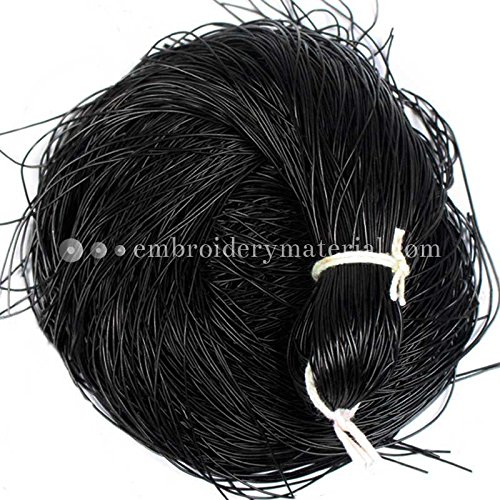 French Wire for Beading(Dabka), Black Color, 0.5MM, 114.3 Mtr(100 Gram) (French Wire Bullion)