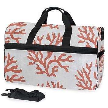 Amazon.com: Bolsa de gimnasio con dibujos animados de coral ...