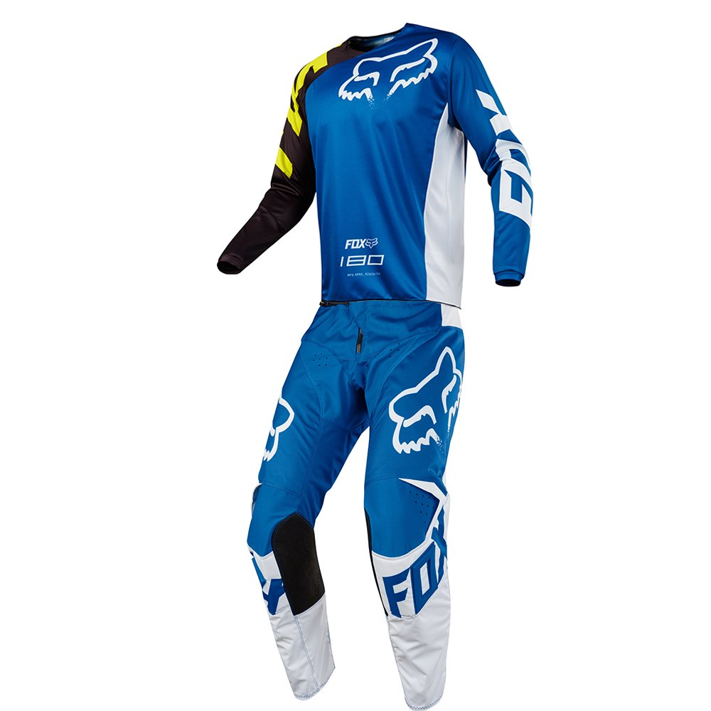 Fox Racing 180 Race Blue Jersey/ Pant Youth Combo - Size Y-SMALL/ 24W
